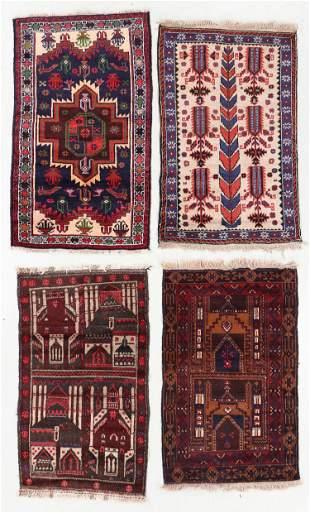 Four Vintage Beluch Rugs, Afghanistan