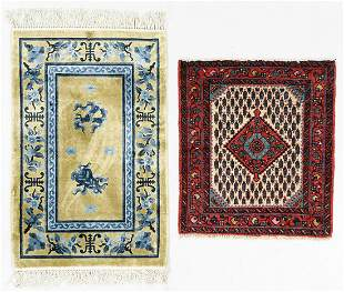 Two Vintage Small Persian & Chinese Rugs