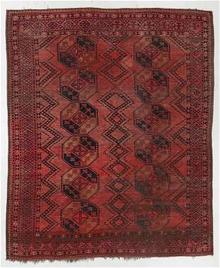 Ersari Main Rug, Afghanistan, Circa 1900, 7'7'' x 9'2''