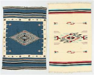 Two Saltillo Tapestries, Mexico, Early/Mid 20th C.