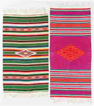 Two Saltillo Tapestries, Mexico, Mid 20th C.