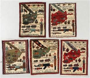 Five Post 9-11 Afghan War Rugs