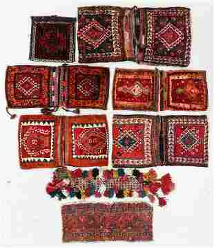 Collection of Vintage Persian Bags and Trappings (8)
