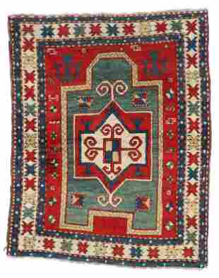 Kazak Prayer Rug, Caucasus, Third Quarter 19th C.