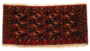 Tekke Mafrash/Kap w. Silk Aina Gul, Turkmenistan, First