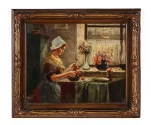 "Dutch Style Interior ""Arranging Flowers"""