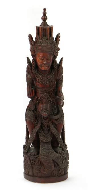 Balinese Carved Wood Figure of Garuda