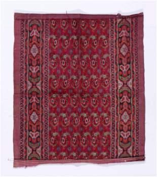 19th C. Persian Velvet Ikat Panel