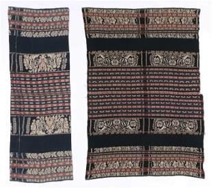 Two Savu Cotton Ikat Sarongs, Indonesia, mid 20th C.