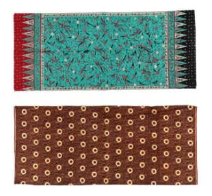 Two Indonesian Cotton Batik Sarongs, mid 20th C.