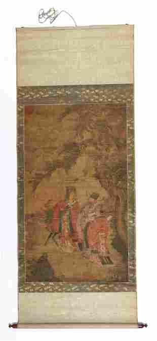Antique Chinese Emperor Scroll Painting
