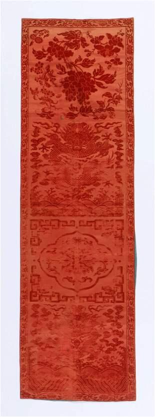 18th C. Chinese Silk Velvet Textile