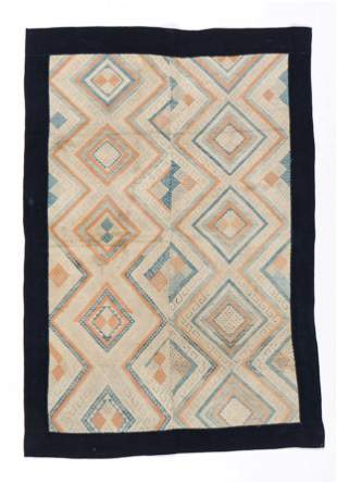 Buyi Cotton Blanket, S. China, early 20th Century