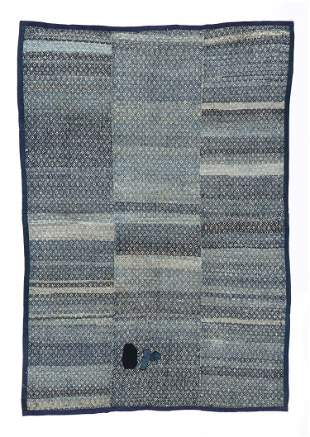 Miao Recycled Cloth Blanket, China, 20th C.