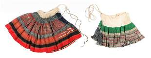 Two Miao Pleated Cotton Skirts, mid 20th c.