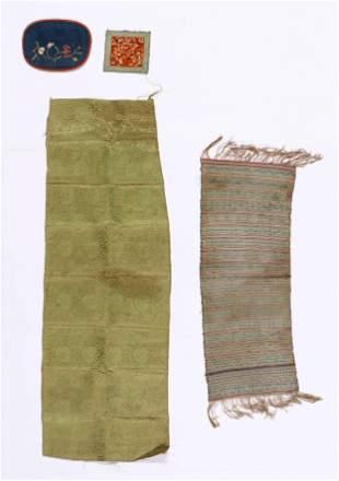 Four Antique Chinese Silk Textiles
