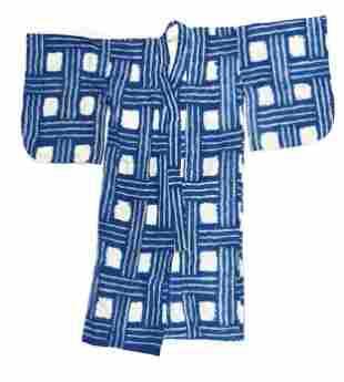 Japanese Child's Shibori Kimono, mid 20th C.
