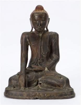 Burmese Bronze Statue of Buddha, 19th c.
