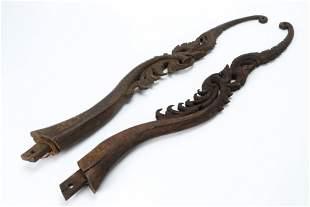 Pair of Burmese Ox Cart Adornments, c. 1900