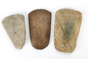 Three Ancient Stone Axes, Northern Laos