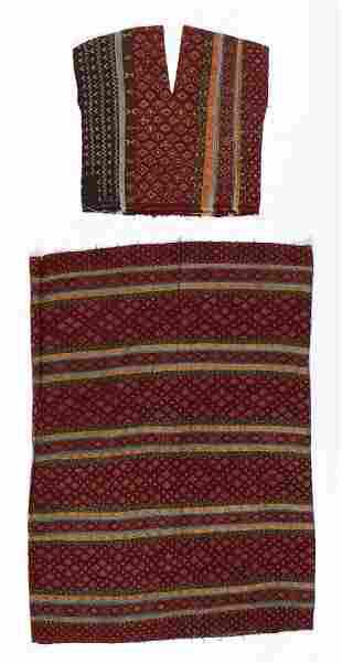 Hakachin Woman's Silk Skirt and Top, early 20th C.