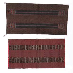 Two Chin Cotton Breast Cloths, Burma, early 20th C.