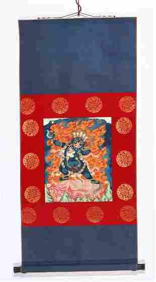 Antique Tibetan Thangka of Vajrapani