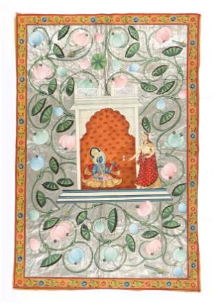 Indian Pichwai Painting, Early 20th C.