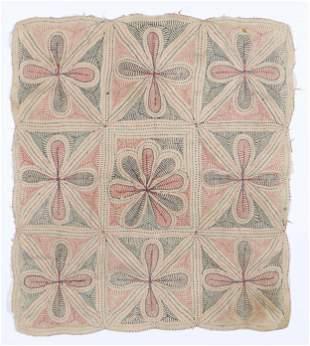 Antique Indian Kantha Folk Embroidery