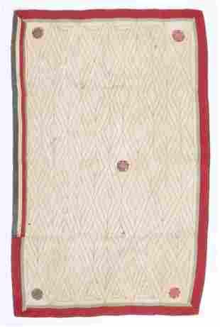 Indian Diamond Ground Kantha Folk Embroidery