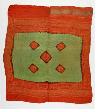 Indian Silk Head Covering, Gujarat, c. 1925