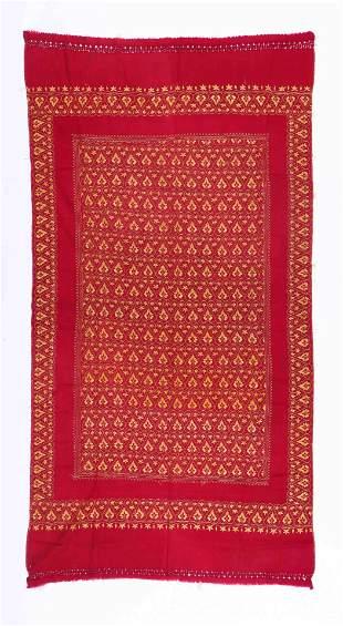 Embroidered Wool Shawl, Kashmir, c.1920