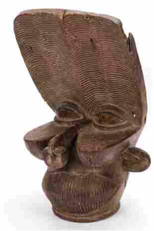 African Bamileke Batcham Headdress, West Cameroon