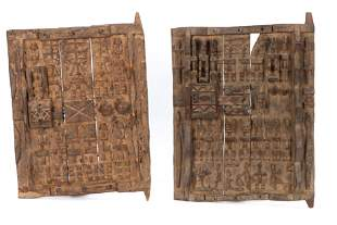Pair of Dogon Windows or Doors, West Africa, Mid 20th