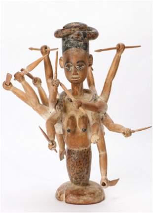 African Ewe Mami Wata Shrine Figure, Togo, Early/Mid