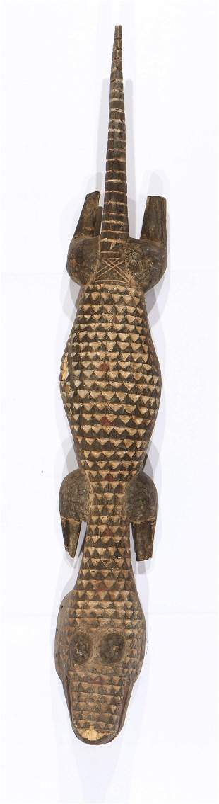 Large African Nuna Crocodile Mask, Burkina Faso