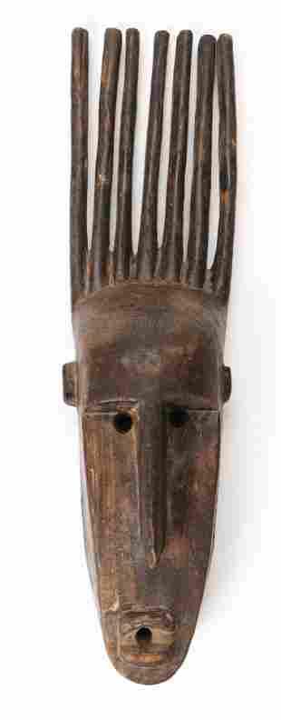 African Bamana N'tomo Mask, Mali
