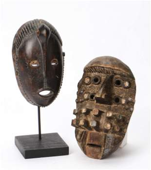 African Ligbe Mask and Guerre Mask