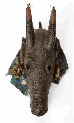 African Bamana or Marka Peoples Antelope Mask, Mali