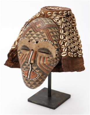 African Kuba Mask, Congo.