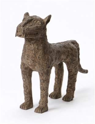 African Benin Bronze Leopard