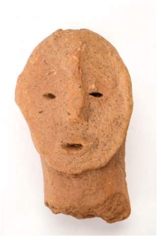 An Ancient African Bura Culture Terracotta Head, Niger