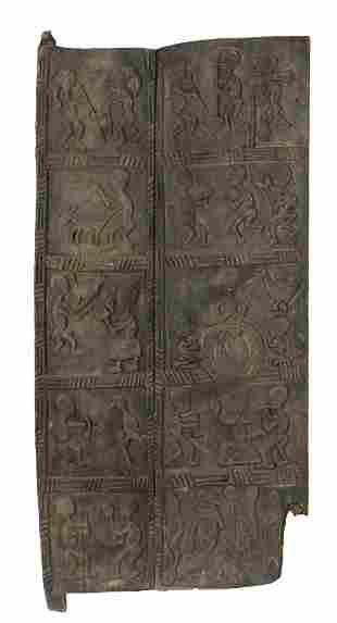 Rare Ijebu Yoruba Diviners House Door, Nigeria