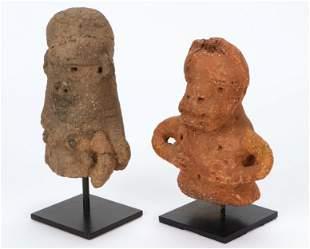 Two African Sokoto Terracotta Figures, Nigeria