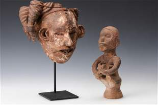 Two African Ibo Artifacts, Nigeria, early 20th century