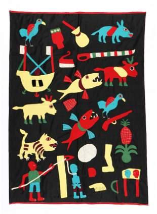 African Dahomey Anti-Colonial Folk Tapestry, Benin