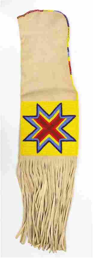 Vintage Lakota Sioux Beaded Pipe Bag