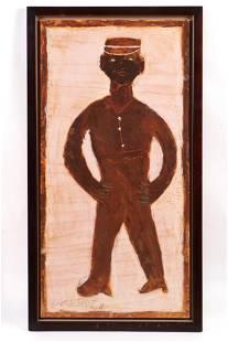 Jimmie Lee Sudduth (1910-2007) Large Self Portrait