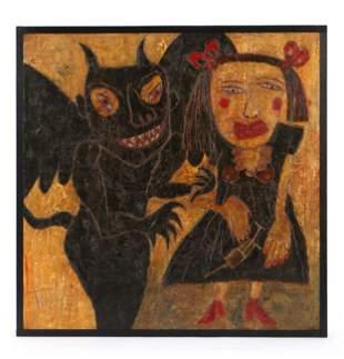 "Dave Tinsley (American, b. 1951) ""Fighting Demons"""