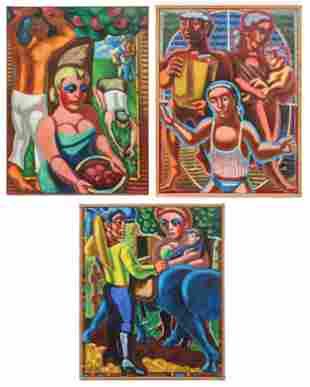 Jack Gerber (American, 1927-2021) 3 Paintings
